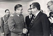 Augusto Pinochet and U.S. Secretary of State Henry Kissinger, 1976.