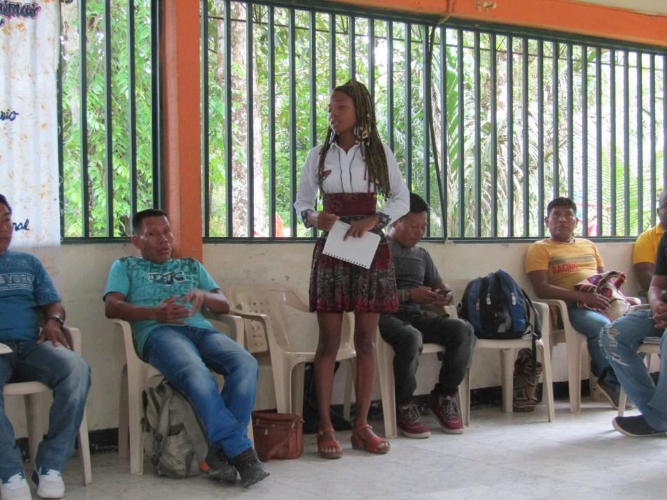 Nidiria Ruiz, antropóloga, lideresa de la Asociación AINI, organización de mujeres de la cuenca del río Naya. Gabriel Galindo/ Comisión Intereclesial de Justicia y Paz