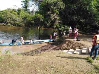 Pobladores ZRCPA en Río Putumayo