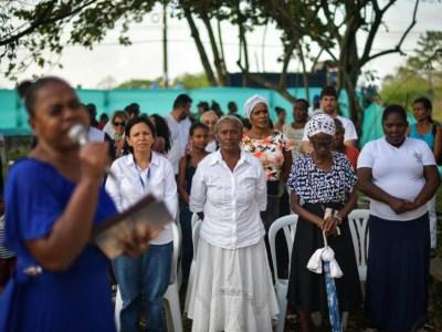 Las mujeres de la organización Clamores, que se reubicaron en Turbo, exigen condiciones dignas para continuar allí su vida. Por ejemplo, viviendas propias. Jose Vargas.
