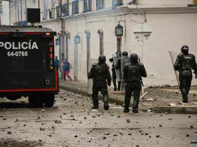 ESMAD Centro Histórico de Popayán 28 de Abril de 2021 Fotografía de: Andrés Cruz