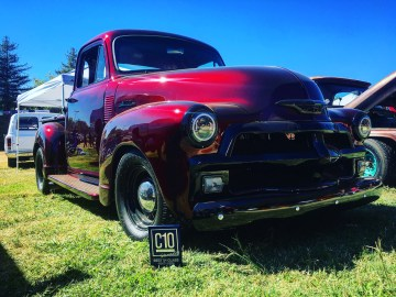 1954 Chevy truck built by Justified Performance