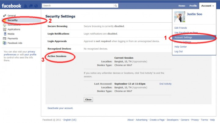 How to know that your facebook account is hacked