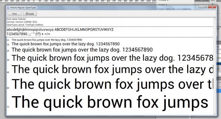 Roboto Fonts