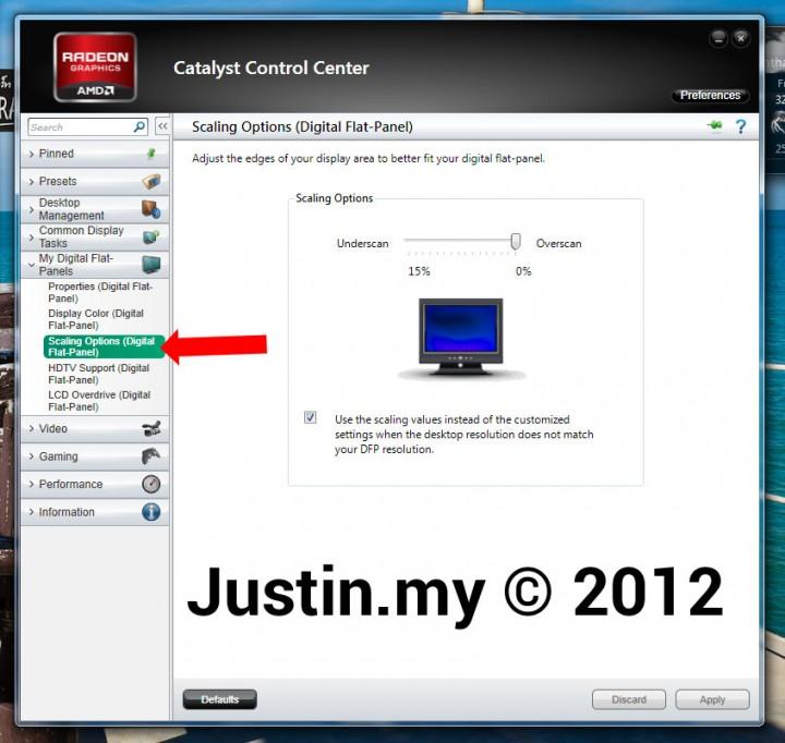 Cannot display Full Screen using ATI AMD Radeon