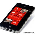 How to run Windows Phone 7 on iPhone ?