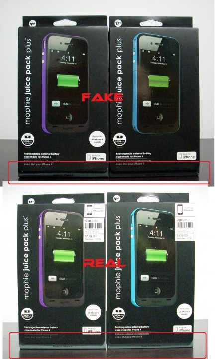 Fake Mophie Juice Pack Plus for iPhone 4 4S in the Market 5