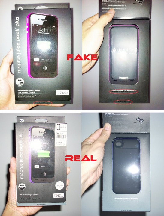 Fake Mophie Juice Pack Plus for iPhone 4 4S in the Market 6