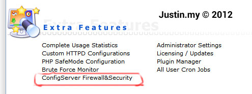 Installing Firewall using csf on DirectAdmin 02