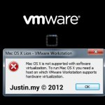 Mac OS X is not supported with software virtualization