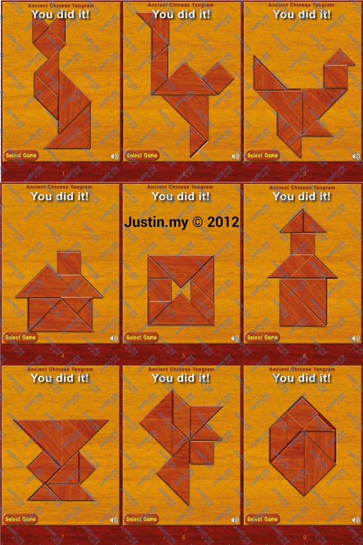 Ancient Chinese Tangram Level 1 9