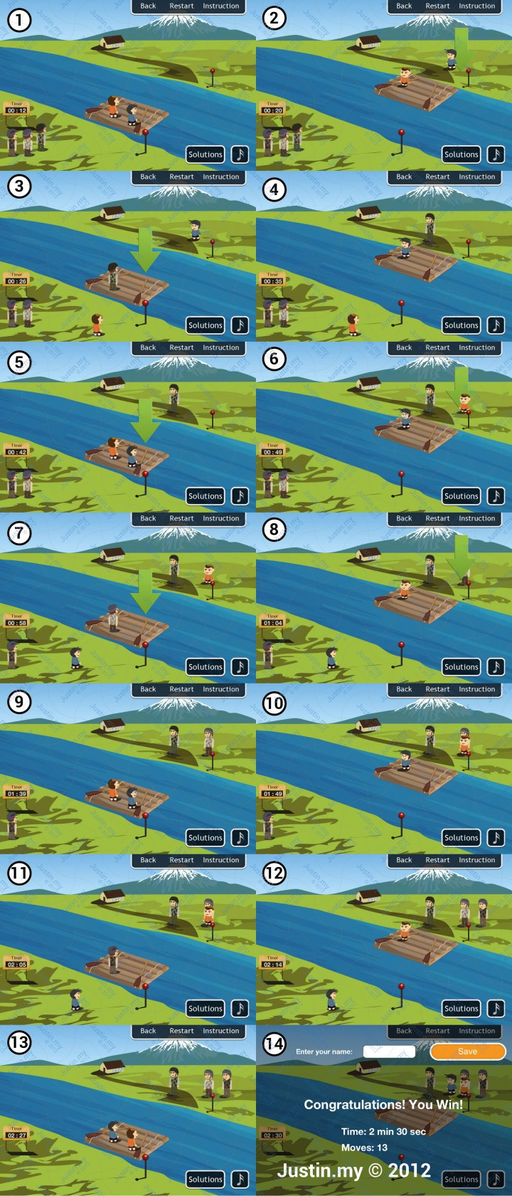 River Test Solution 3 Soldiers