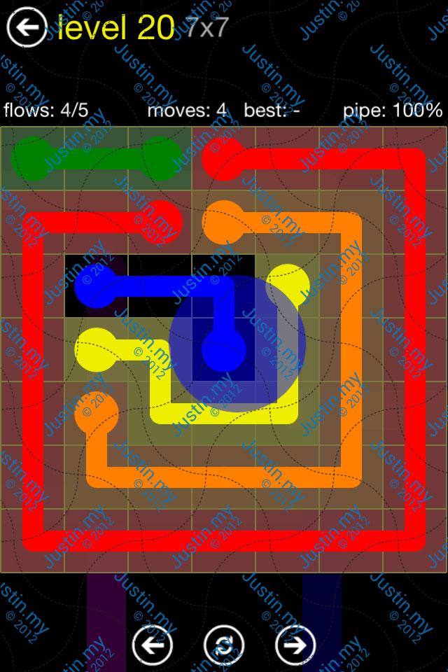 Flow Free Regular Pack 7x7 Level 20