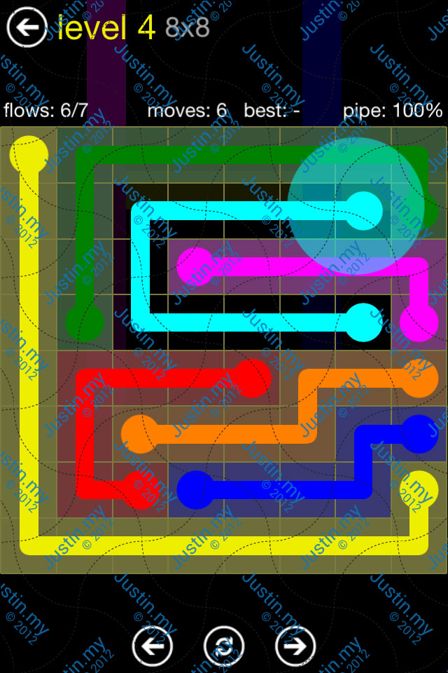 Flow Free Regular Pack 8x8 Level 04