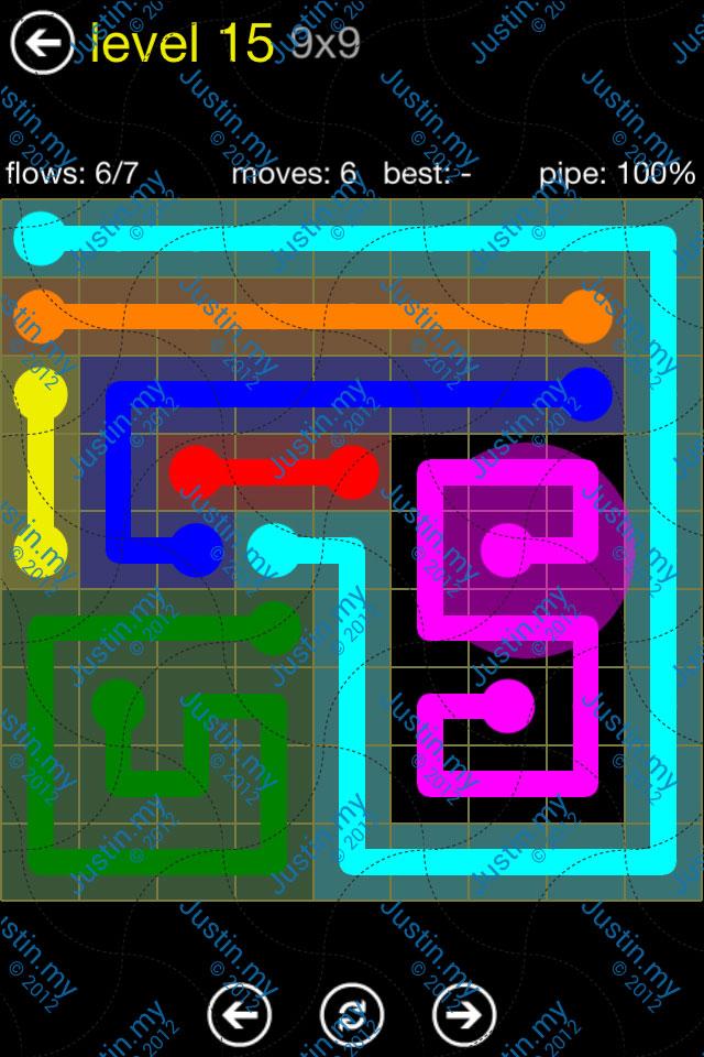 Flow Free Regular Pack 9x9 Level 15