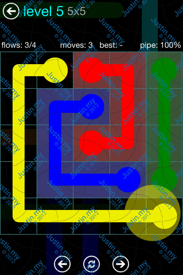 Flow Game Blue Pack 5x5 Level 05