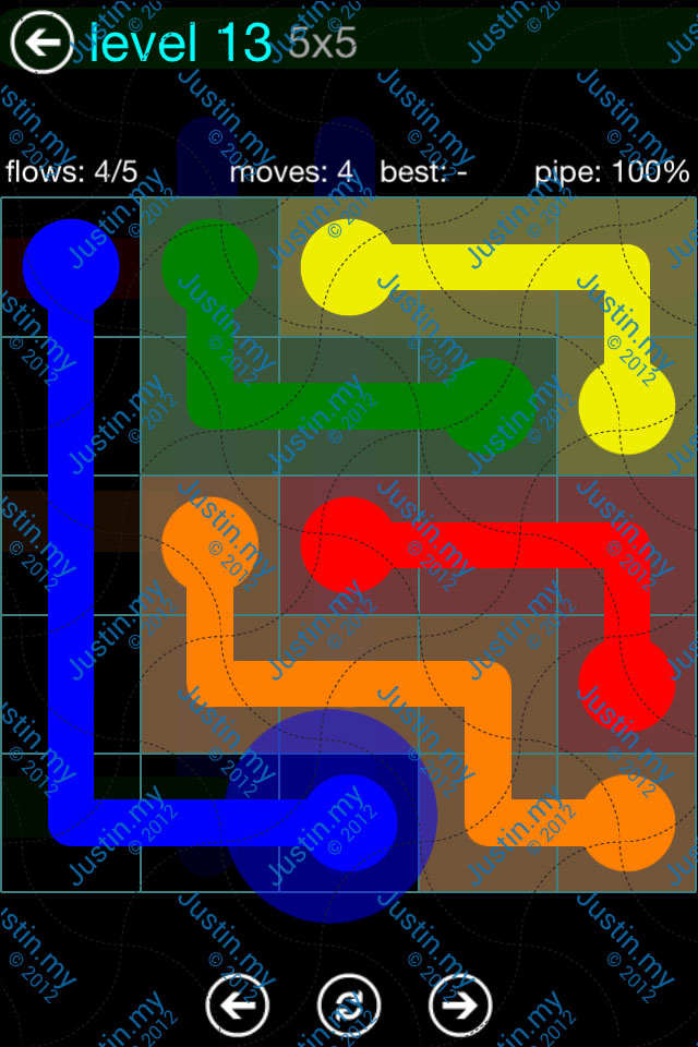 Flow Game Blue Pack 5x5 Level 13