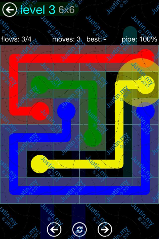 Flow Game Blue Pack 6x6 Level 02