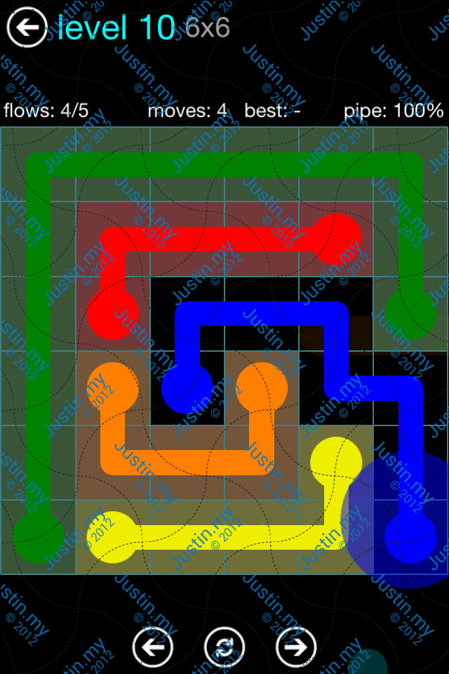 Flow Game Blue Pack 6x6 Level 09