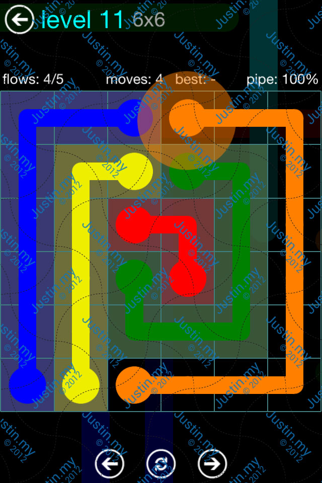 Flow Game Blue Pack 6x6 Level 10