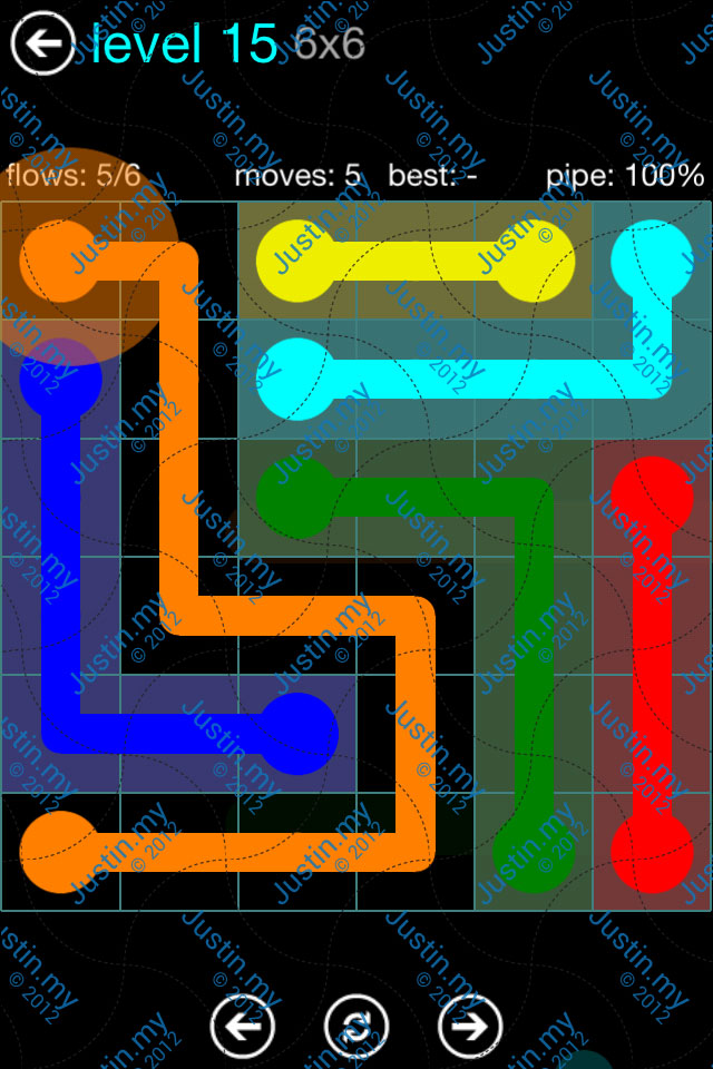 Flow Game Blue Pack 6x6 Level 14