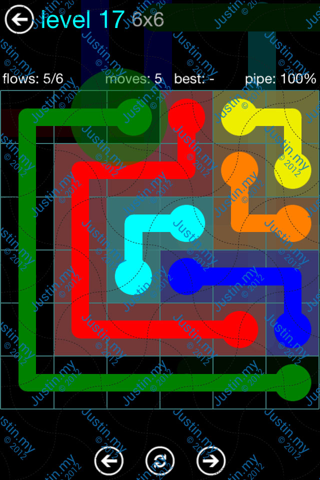 Flow Game Blue Pack 6x6 Level 16