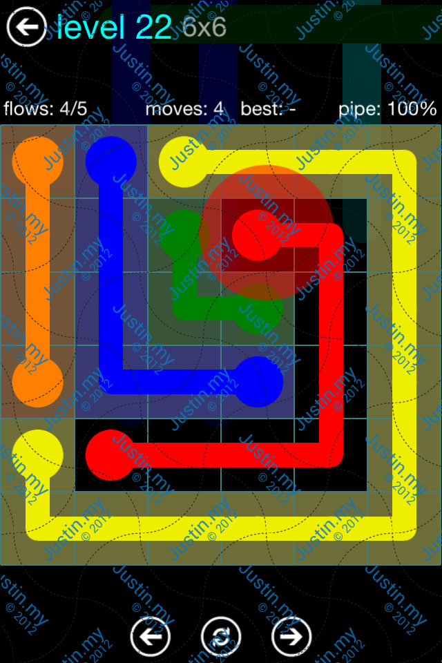 Flow Game Blue Pack 6x6 Level 21