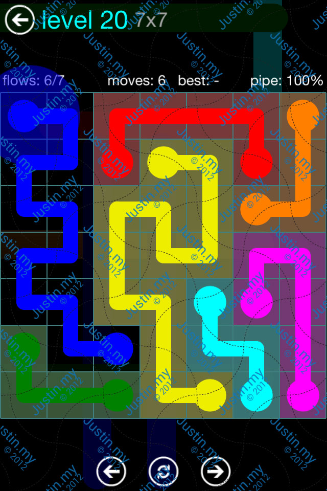 Flow Game Blue Pack 7x7 Level 19