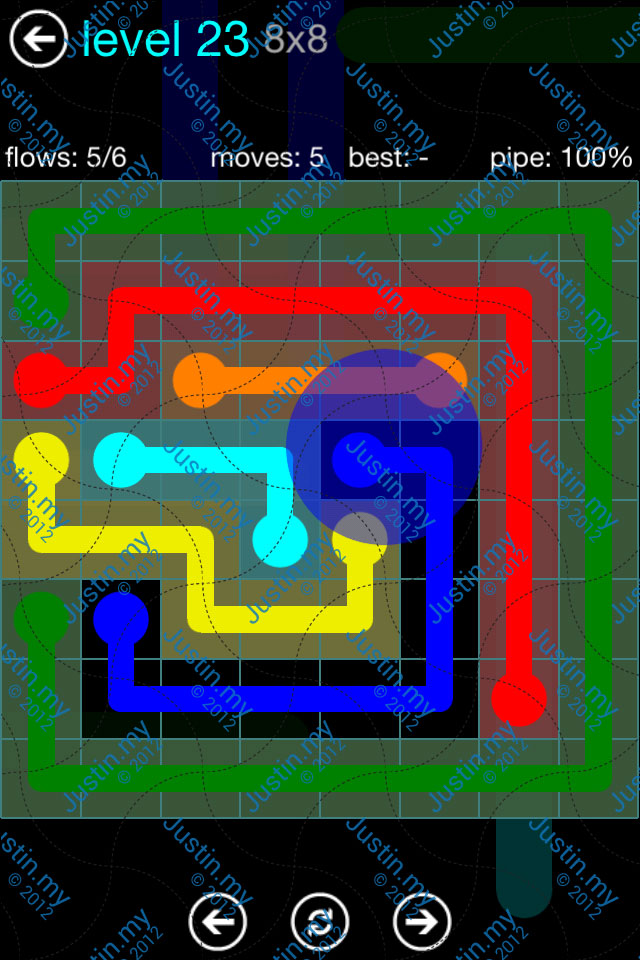Flow Game Blue Pack 8x8 Level 22