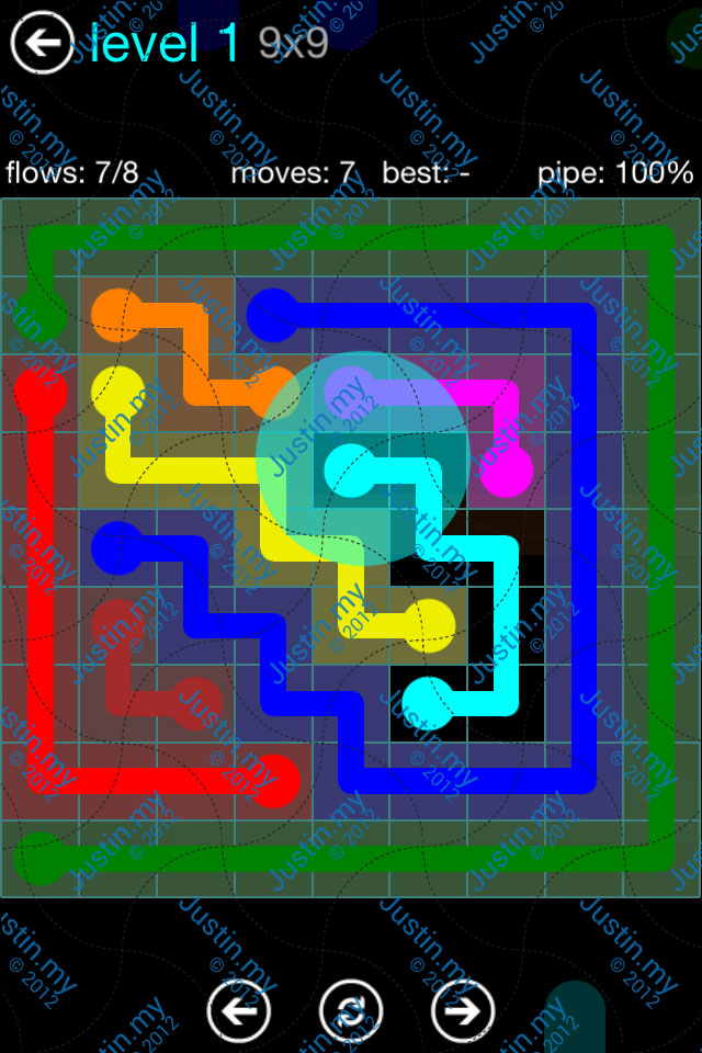 Flow Game Blue Pack 8x8 Level 30