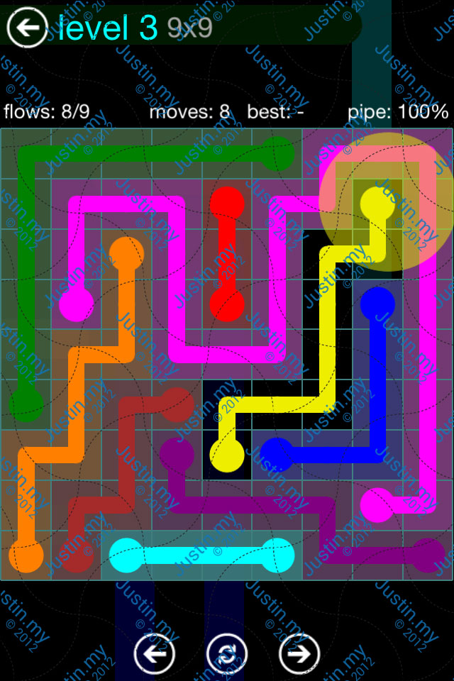 Flow Game Blue Pack 9x9 Level 02