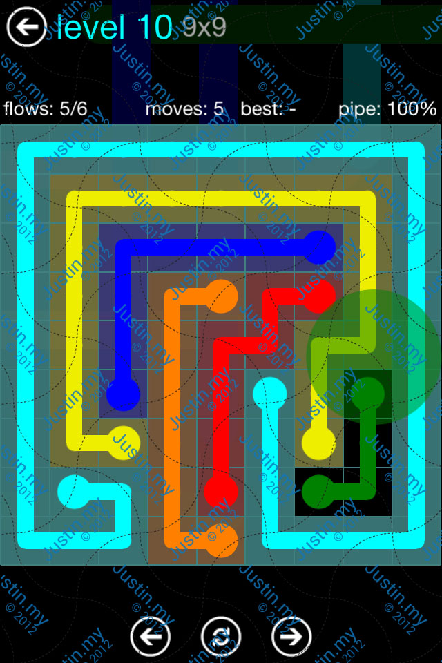 Flow Game Blue Pack 9x9 Level 09