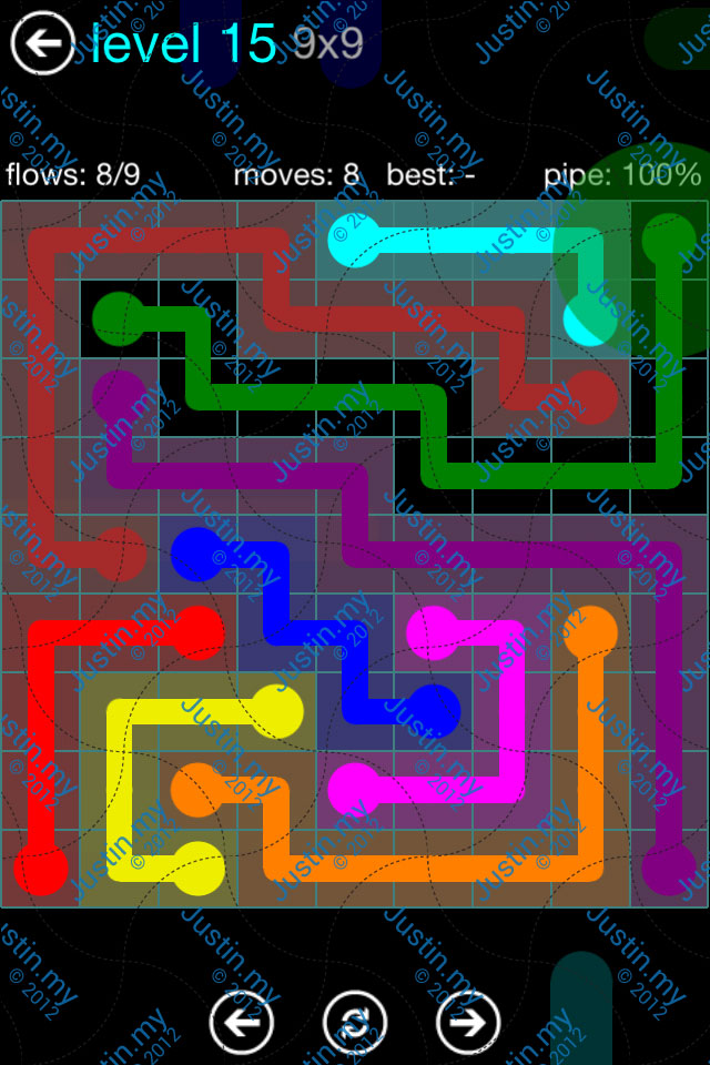 Flow Game Blue Pack 9x9 Level 14