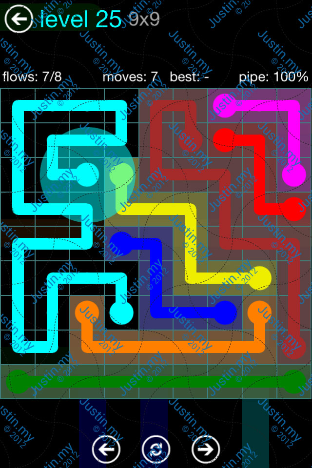 Flow Game Blue Pack 9x9 Level 25
