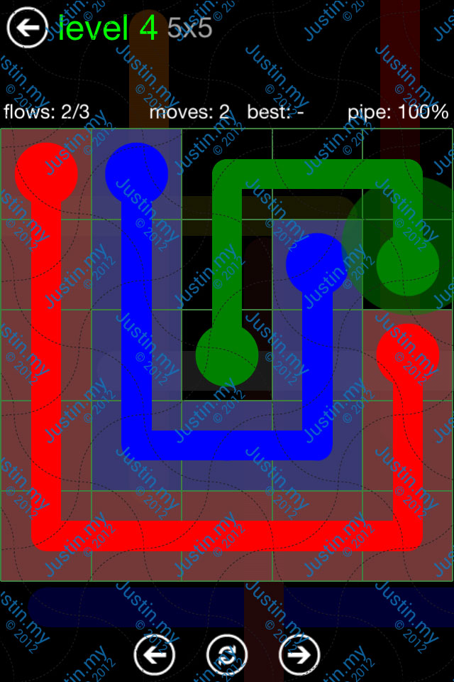 Flow Game Green Pack 5x5 Level 04