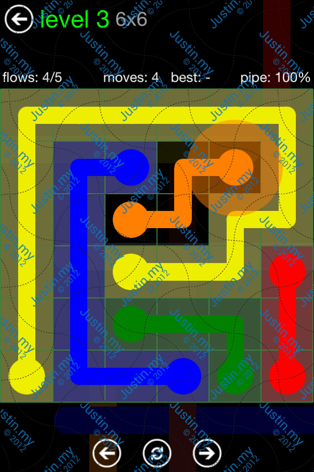 Flow Game Green Pack 6x6 Level 03