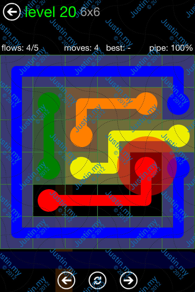 Flow Game Green Pack 6x6 Level 20