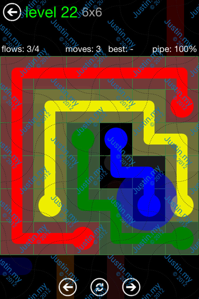 Flow Game Green Pack 6x6 Level 22