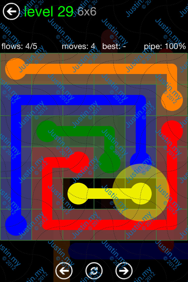 Flow Game Green Pack 6x6 Level 29