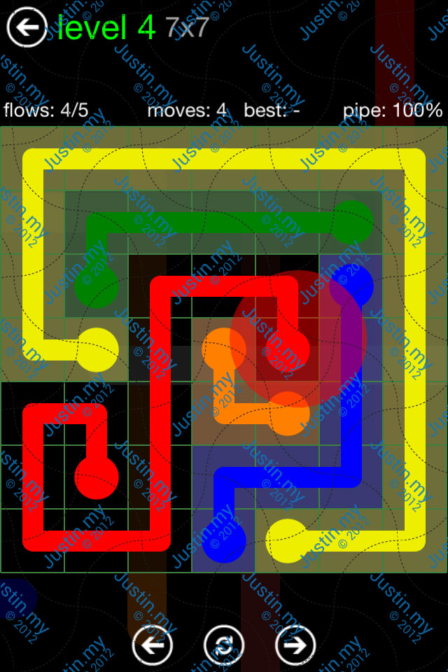 Flow Game Green Pack 7x7 Level 04