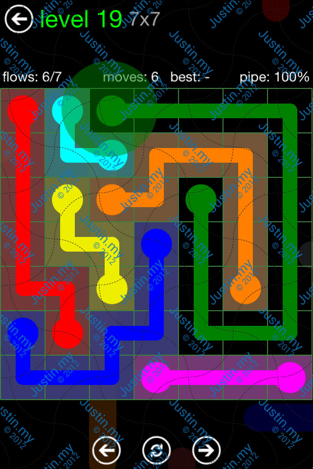 Flow Game Green Pack 7x7 Level 19