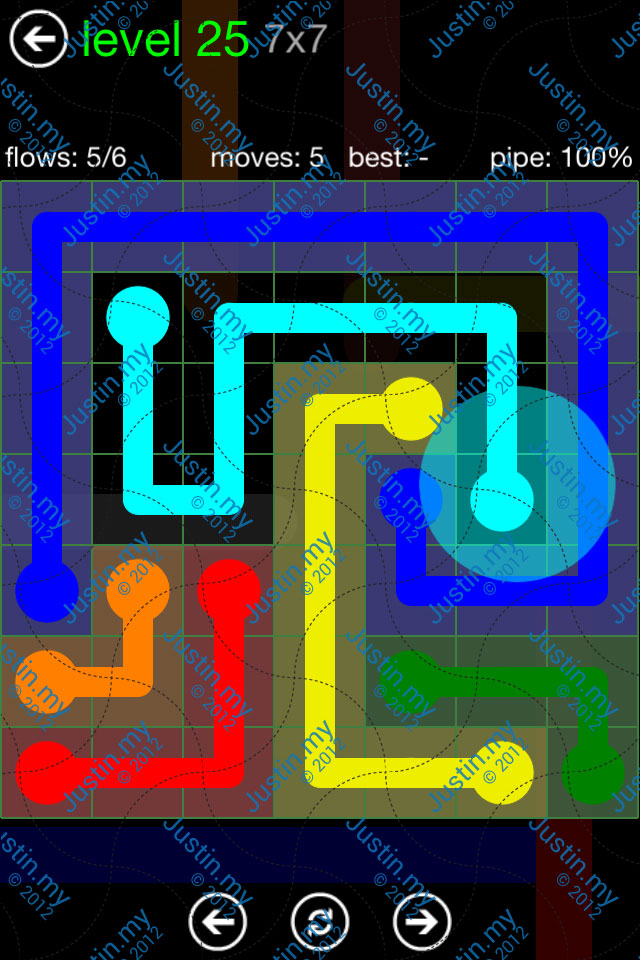 Flow Game Green Pack 7x7 Level 25