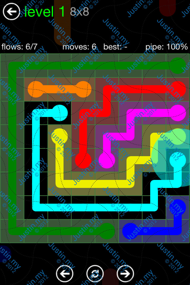 Flow Game Green Pack 8x8 Level 01