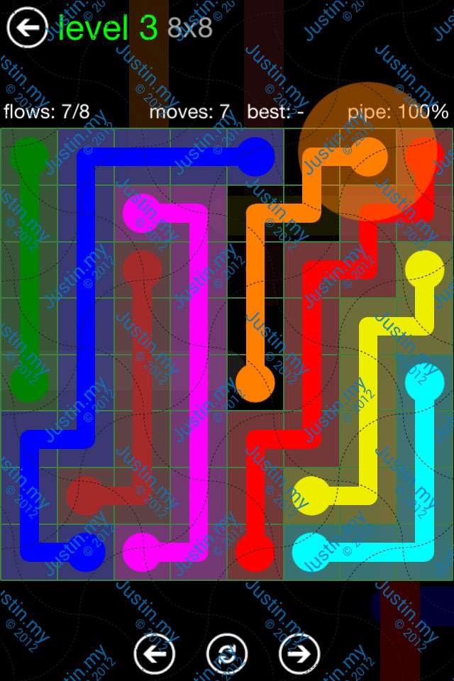 Flow Game Green Pack 8x8 Level 03