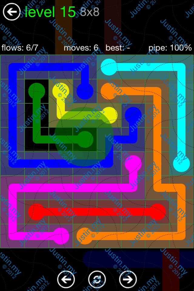 Flow Game Green Pack 8x8 Level 15