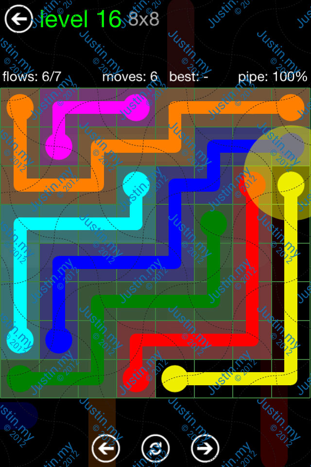 Flow Game Green Pack 8x8 Level 16