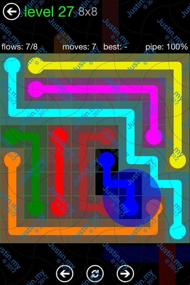 Flow Game Green Pack 8x8 Level 27