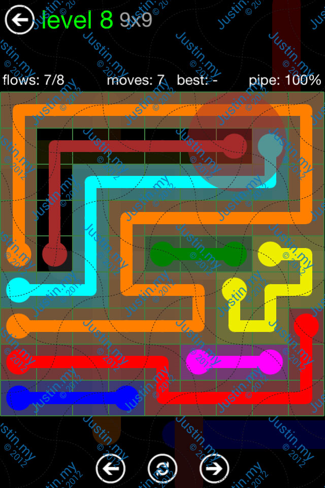 Flow Game Green Pack 9x9 Level 08