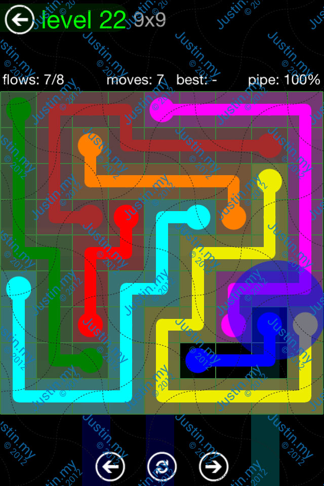 Flow Game Green Pack 9x9 Level 22