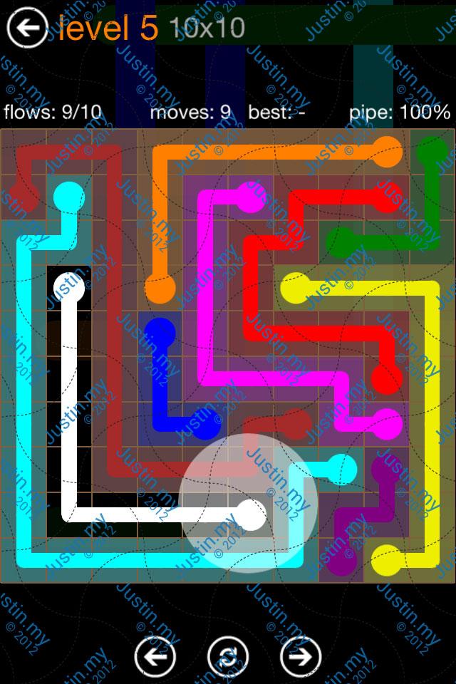 Flow Game Jumbo Pack 10x10 Level 05